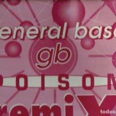 Discos de vinilo: DESCATALOGADO LP GENERAL BASE GB,POISON REMIX S.G.A.E. 1993. Lote 185032328