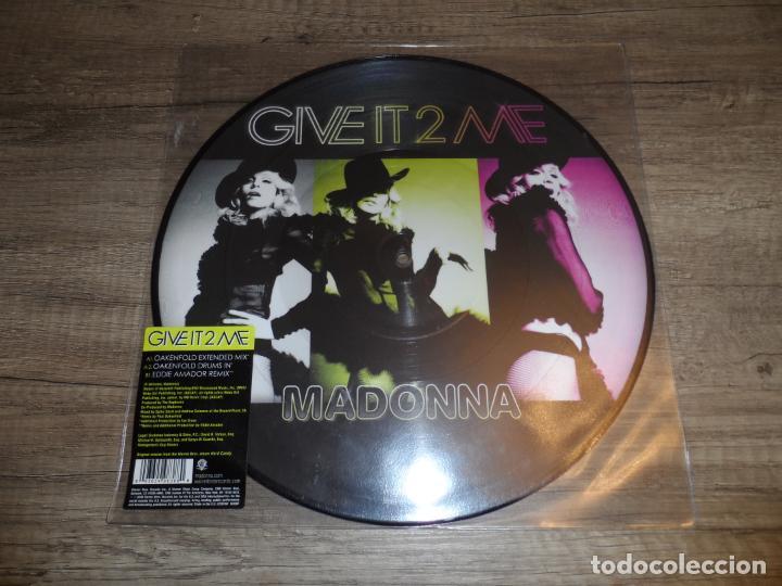 MADONNA - GIVE IT 2 ME (PICTURE DISC) (Música - Discos de Vinilo - Maxi Singles - Pop - Rock Internacional de los 90 a la actualidad)