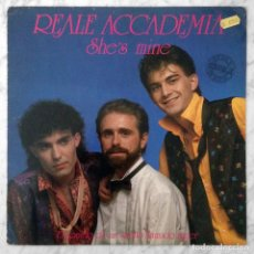 Discos de vinilo: MAXI-SINGLE - REALE ACCADEMIA - SHE'S MINE - LEIBER RECORDS - 1986 (ITALO-DISCO). Lote 185207506