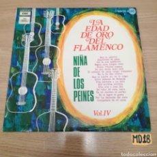 Discos de vinilo: LA EDAD DE ORO DEL FLAMENCO. Lote 185211217