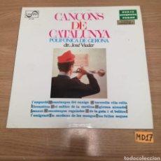 Discos de vinilo: CANÇONS DE CATALUNYA. Lote 185224692