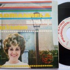 Discos de vinilo: ADRIANGELA - MAREA BAJA / SAN FRANCISCO - SINGLE PROMOCIONAL 1968 - ZAFIRO. Lote 185252935