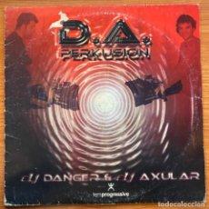 Discos de vinilo: DJ DANGER & DJ AXULAR - D.A. PERKUSION (12') (TEMPROGRESSIVE). Lote 185278166