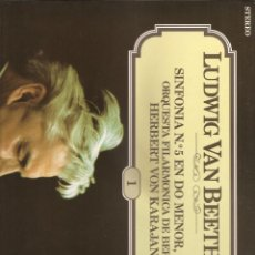 Discos de vinilo: 14. BEETHOVEN. SINFONIA Nº 5. FILARMONICA BERLIN CON KARAJAN. Lote 185296983