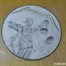 Discos de vinilo: METALLICA - ...AND JUSTICE FOR ALL (LP PICTURE, MUSIC FOR NATIONS, ENGLAND) NUEVO. Lote 185370105