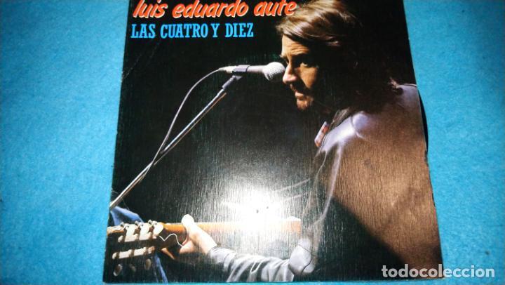 LUIS EDUARDO AUTE, LAS CUATRO Y DIEZ + EL ASCENSOR (MOVIEPLAY 1983) SINGLE PROMOCIONAL (Música - Discos - Singles Vinilo - Cantautores Españoles)