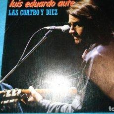 Discos de vinilo: LUIS EDUARDO AUTE, LAS CUATRO Y DIEZ + EL ASCENSOR (MOVIEPLAY 1983) SINGLE PROMOCIONAL. Lote 185460500