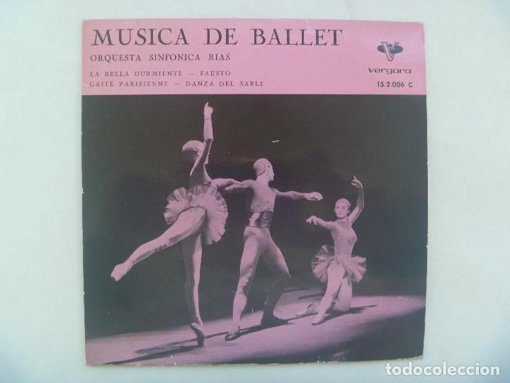 SINGLE MUSICA CLASICA DE BALLET, ORQUESTA SINFONICA RIAS. VERGARA, 1962 (Música - Discos - Singles Vinilo - Clásica, Ópera, Zarzuela y Marchas)