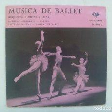 Discos de vinilo: SINGLE MUSICA CLASICA DE BALLET, ORQUESTA SINFONICA RIAS. VERGARA, 1962. Lote 185490307