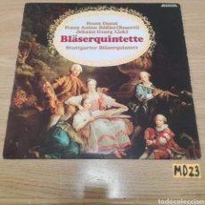 Discos de vinilo: BLASERQUINTETTE. Lote 185541346
