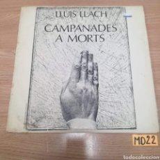 Discos de vinilo: CAMPANADES A MORTS. Lote 185545578
