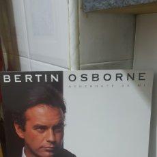 Discos de vinilo: LP BERTIN OSBORNE ACUERDATE DE MI NUEVO. Lote 185580266