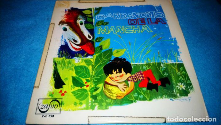 GARBANCITO DE LA MANCHA - SINGLE ZAFIRO ROJO PROMOCIONAL RARO (Música - Discos de Vinilo - EPs - Música Infantil)