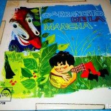 Discos de vinilo: GARBANCITO DE LA MANCHA - SINGLE ZAFIRO ROJO PROMOCIONAL RARO. Lote 185581076