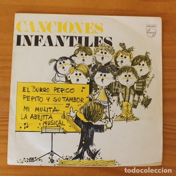 CORO DE LAS ESCUELAS AVEMARIANAS -EP VINILO 7''- CANCIONES INFANTILES EL BURRO PERICO (Música - Discos de Vinilo - EPs - Música Infantil)