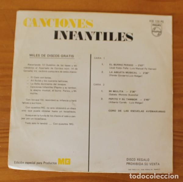 Discos de vinilo: CORO DE LAS ESCUELAS AVEMARIANAS -EP VINILO 7- CANCIONES INFANTILES EL BURRO PERICO - Foto 2 - 185690196