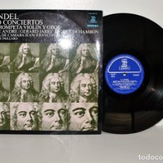 Discos de vinilo: HAENDEL - 5 CONCIERTOS PARA TROMPETA - J-F. PAILLARD - ERATO ESPAÑA 1971 EX/VG++. Lote 185697547