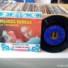Discos de vinilo: DOLORES VARGAS LA TERREMOTO URTAIN, EL KO Y OLÉ / LAS PIRAMIDES DE EGIPTO. Lote 185700301
