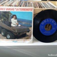 Discos de vinilo: DOLORES VARGAS LA TERREMOTO CHIIRPY CHIRPY CHEEP CHEEP / LOVE STORY. Lote 185700466