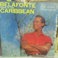 Discos de vinilo: HARRY BELAFONTE - SINGS OF THE CARIBBEAN - RCA 10 PULGADAS - OCHO TEMAS - . Lote 185709292