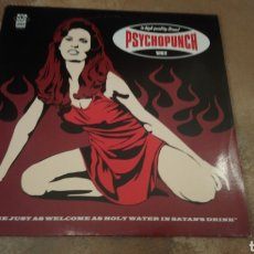 Discos de vinilo: PSYCHOPUNCH ‎– WE ARE JUST AS WELCOME AS HOLY WATER IN SATAN'S DRINK. LP VINILO AZUL . STONER ROCK. Lote 185717007