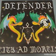 Discos de vinilo: DEFENDER - CITY AD MORTIS - CBS 1987 - LP RARO. Lote 185738237