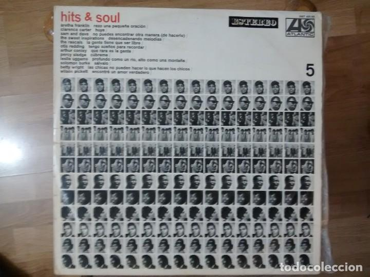 VARIOS – HITS & SOUL/5 ARETHA FRANKLIN, SAM AND DAVE, RASCALS, OTIS REDDING, SOLOMON BURKE LP 1968 (Música - Discos - LP Vinilo - Funk, Soul y Black Music)