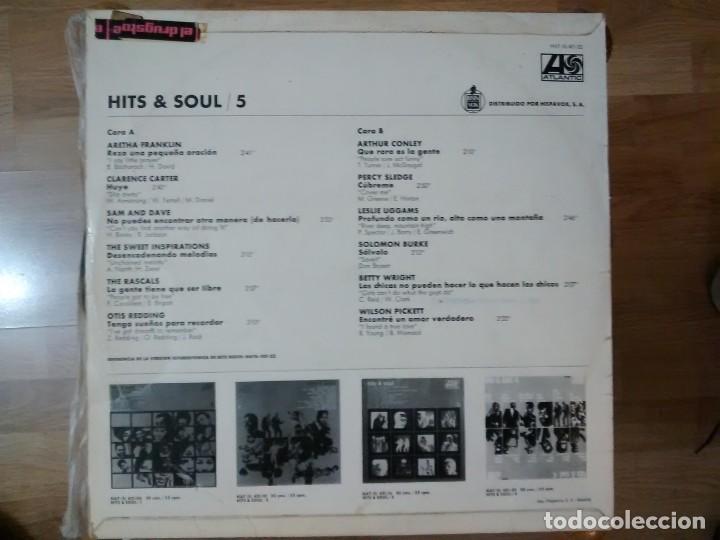 Discos de vinilo: VARIOS – HITS & SOUL/5 ARETHA FRANKLIN, SAM AND DAVE, RASCALS, OTIS REDDING, SOLOMON BURKE LP 1968 - Foto 2 - 185738826