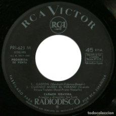 Discos de vinilo: CARMEN GRAVINA (JOE FUSTÉ) - GASTON - EP PROMO SPAIN 1962 - RCA VICTOR PRI - 623. Lote 185742380