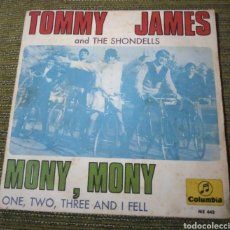 Discos de vinilo: TOMMY JAMES AND THE SHONDELLS - MONY, MONY. Lote 185742446