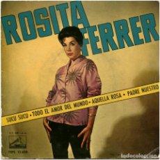 Discos de vinilo: ROSITA FERRER - SUCU SUCU - EP SPAIN 1961 - LA VOZ DE SU AMO 7EPL 13.658. Lote 185744303