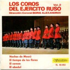 Discos de vinilo: COROS DEL EJÉRCITO RUSO, DIR: CORONEL BORIS ALEXANDROV – VOL. 2 - EP SPAIN 1965 - VISADISC/MARFER. Lote 185745887