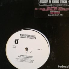 Discos de vinilo: SWAY & KING TECH FEATURING DJ REVOLUTION - THE ANTHEM \ UNDERGROUND TACTICS - 1999. Lote 185749981