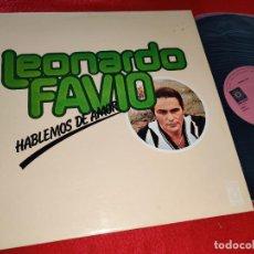 Disques de vinyle: LEONARDO FAVIO HABLEMOS DE AMOR LP 1978 MELODY SPAIN ESPAÑA. Lote 185750760