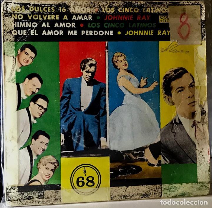SPLIT EP ARGENTINO DE LOS CINCO LATINOS Y JOHNNIE RAY AÑO 1959 (Música - Discos de Vinilo - EPs - Grupos y Solistas de latinoamérica)