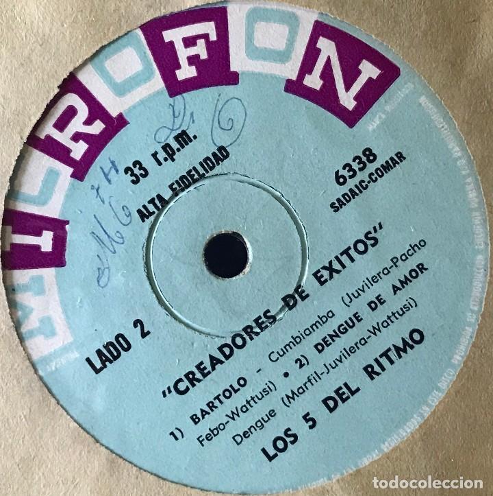 Discos de vinilo: EP argentino de Los 5 del Ritmo año 1965 - Foto 2 - 31164898