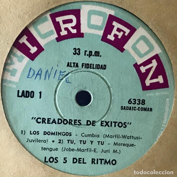 EP ARGENTINO DE LOS 5 DEL RITMO AÑO 1965 (Música - Discos de Vinilo - EPs - Grupos y Solistas de latinoamérica)