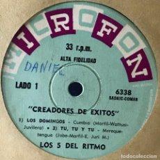 Discos de vinilo: EP ARGENTINO DE LOS 5 DEL RITMO AÑO 1965. Lote 31164898