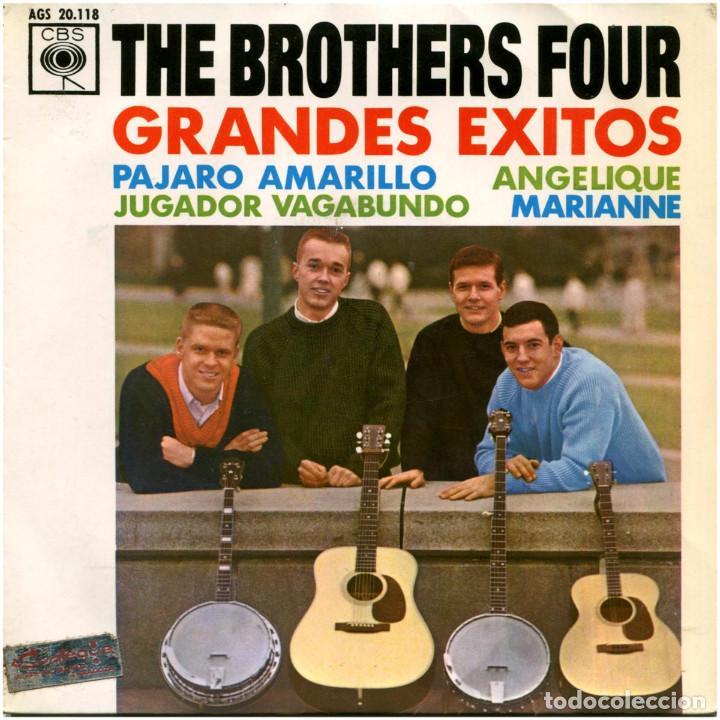 THE BROTHERS FOUR – GRANDES EXITOS - EP SPAIN 1963 - CBS AGS 20.118 (Música - Discos de Vinilo - EPs - Country y Folk)