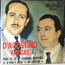 Discos de vinilo: EP ARGENTINO DE D´AGOSTINO / VARGAS AÑO 1965 REEDICIÓN. Lote 26514226