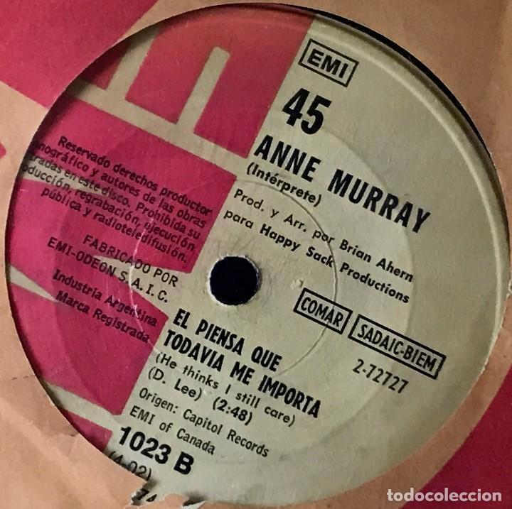 Discos de vinilo: Sencillo argentino de Anne Murray año 1972 - Foto 2 - 31164856