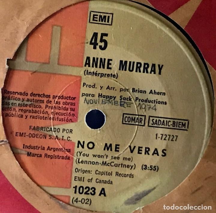 SENCILLO ARGENTINO DE ANNE MURRAY AÑO 1972 (Música - Discos - Singles Vinilo - Country y Folk)