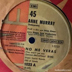 Discos de vinilo: SENCILLO ARGENTINO DE ANNE MURRAY AÑO 1972. Lote 31164856