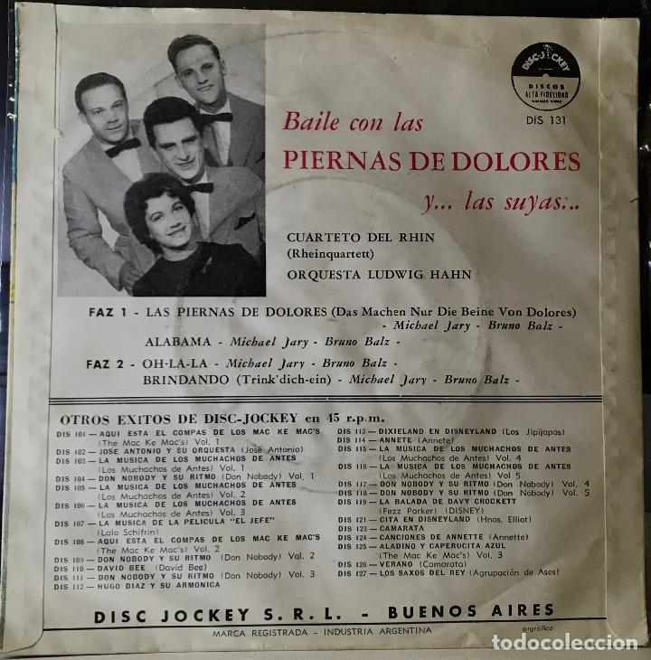 Discos de vinilo: EP argentino del Cuarteto del Rhin (Rhein Quartett) año 1958 - Foto 2 - 35938878