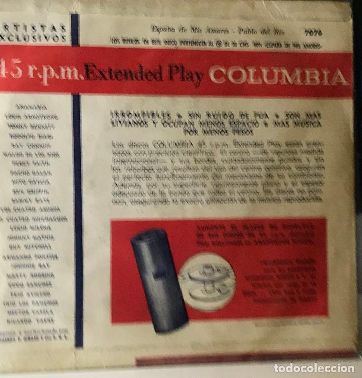 Discos de vinilo: EP argentino de Pablo del Río año 1958 - Foto 2 - 38476154