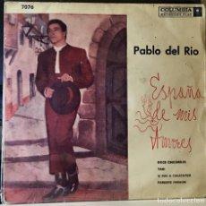 Discos de vinilo: EP ARGENTINO DE PABLO DEL RÍO AÑO 1958. Lote 38476154