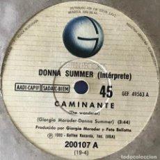 Discos de vinilo: SENCILLO ARGENTINO DE DONNA SUMMER AÑO 1980. Lote 50981709