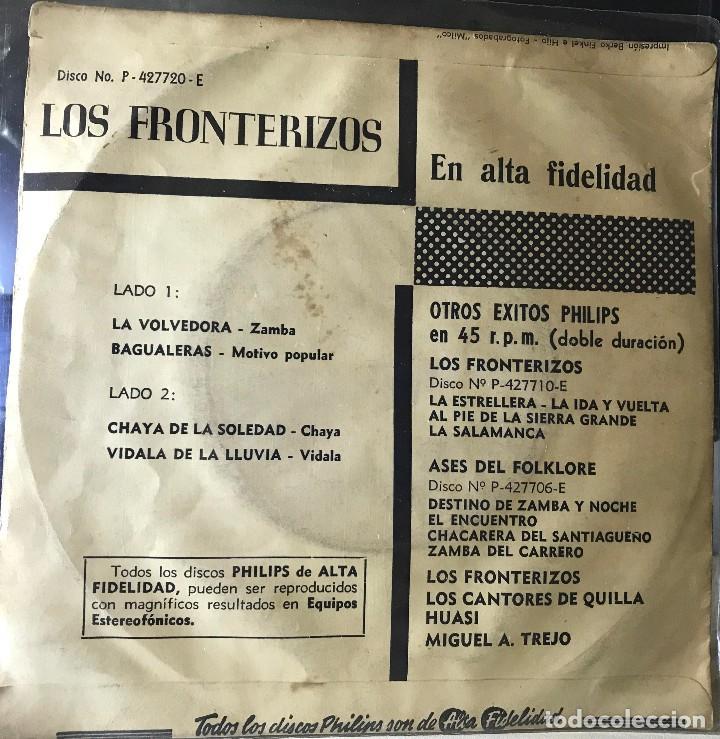 Discos de vinilo: EP argentino de Los Fronterizos año 1959 - Foto 2 - 27057250