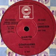Discos de vinilo: SENCILLO DE MARITO AÑO 1974 EDICIÓN ARGENTINA. Lote 31164903