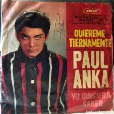 Discos de vinilo: SENCILLO ARGENTINO DE PAUL ANKA AÑO 1962. Lote 35834447